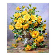 flower vase Moge Diamond Painting Full Round New DIY sticking drill cross stitch 5D embroidery still life arrangement