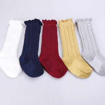 2020 recién nacido niñas estilo español hasta la rodilla arcos calcetines calientes princesa niños pequeños niñas Romany calcetines de algodón acanalado 0-2T