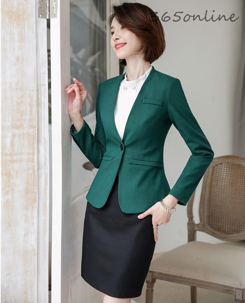 Formal Uniform Designs Women Blazers Professional Business Suits Autumn Winter High Quality Fabric Business Work Wear Pantsuits