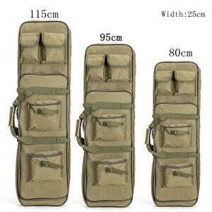 Image 1 - Yeni 120cm tüfek tabanca kılıfı taktik silah çantası yumuşak yastıklı karabina durumda olta çantası sırt çantası tabanca Shotgun Airsoft durumda depolama
