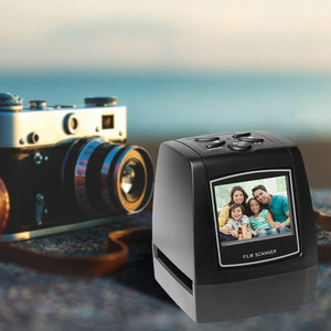 "Image 2 - 네거티브 필름 스캐너 35mm 135mm 슬라이드 필름 변환기 사진 디지털 이미지 뷰어 2.4 ""LCD 내장 편집 소프트웨어"
