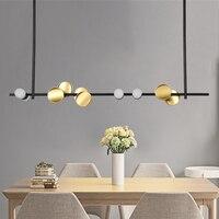 modern art lighting bar LED pendant lamp beauty salon lighting creative Hong Kong style luxury strip pendant lights