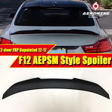 Fits For BMW F12 M6 Trunk spoiler Lip wing FRP Unpainted PSM style 6 series 2-door 640i 650i 650iGC rear 12-17