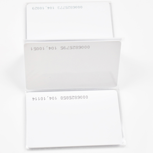 10Pcs באיכות גבוהה 125KHz EM4100/TK4100 RFID סמיכות מזהה חכם כרטיס 0.8mm דק כרטיסי עבור מזהה וגישה שליטה