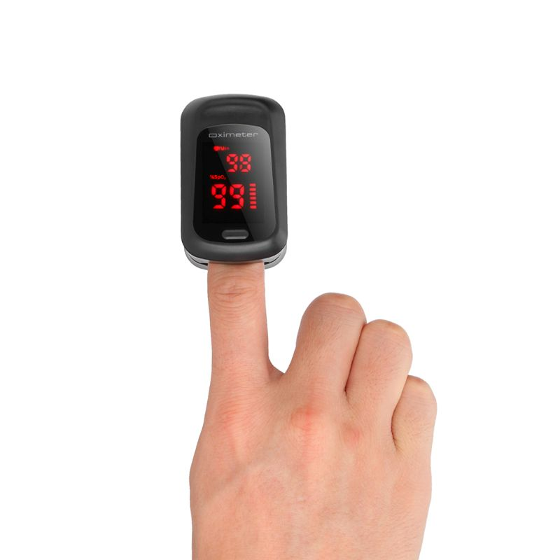 Fingertip Pluse Oximeter Finger Pulse Ox Monitor Blood Oxygen Station Oximeter Blood Oxgen Meter Heart Rate Meter