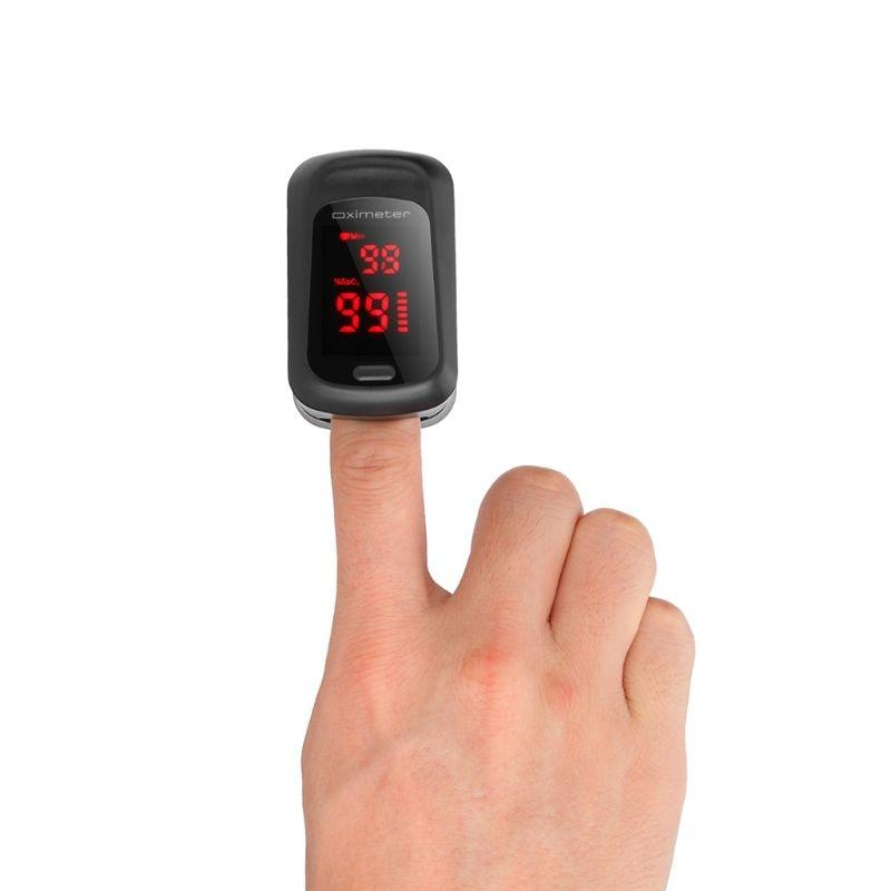 Fingertip Pluse Oximeter Finger Pulse Ox Monitor Blood Oxygen Station Oximeter Blood Oxgen Meter Heart Rate Meter