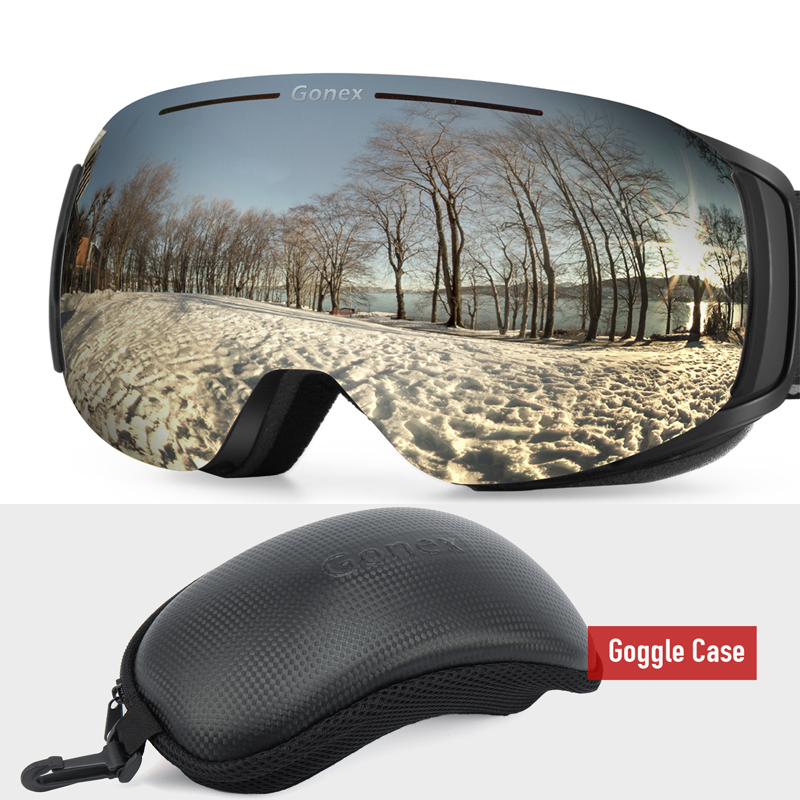 Gonex 2019 Magnetic OTG Ski Goggles Snowboard Skiing Eyewear Glasses Men Women UV400 Protection Anti-Fog Interchangeable Lens