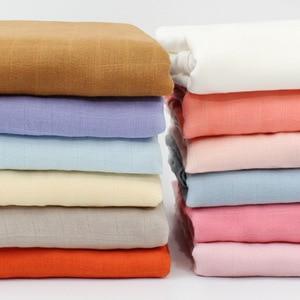 Image 5 - 120x120 см бамбуковое одеяло Пеленальное Одеяло детское муслиновое Пеленальное Одеяло однотонная хлопковая Детская Одеяло для новорожденных