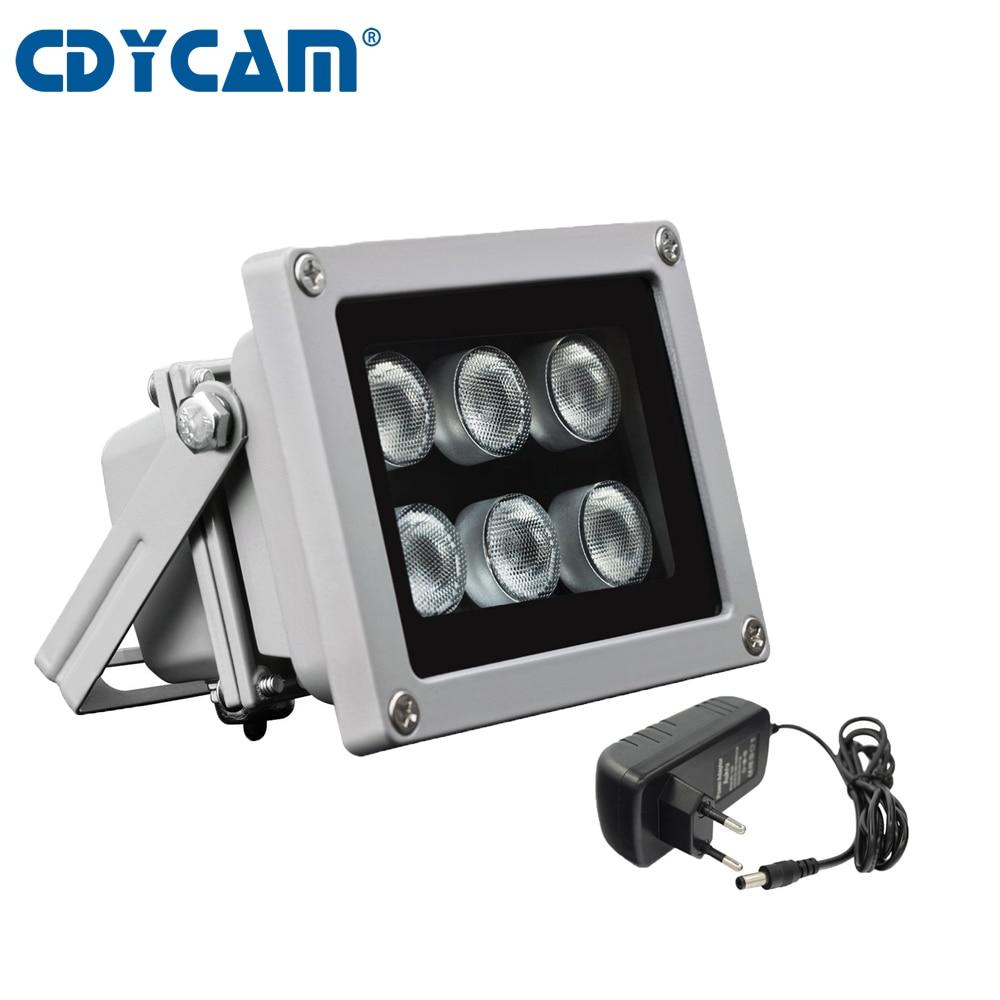45/60 градусов невидимый осветитель нм 6 шт. светодиодов ИК инфракрасный свет Светодиодная наружная камера ночного видения заполняющий свет д...