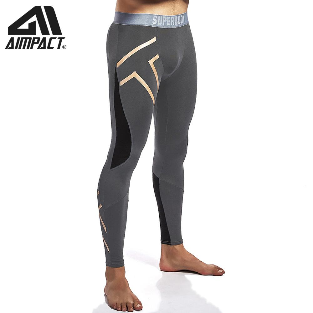 Sport Compression Length Leggings Cotton Running Tights Fitness Training Outdoor Workout Gym Basketball Pants By AIMPACT  AM5126
