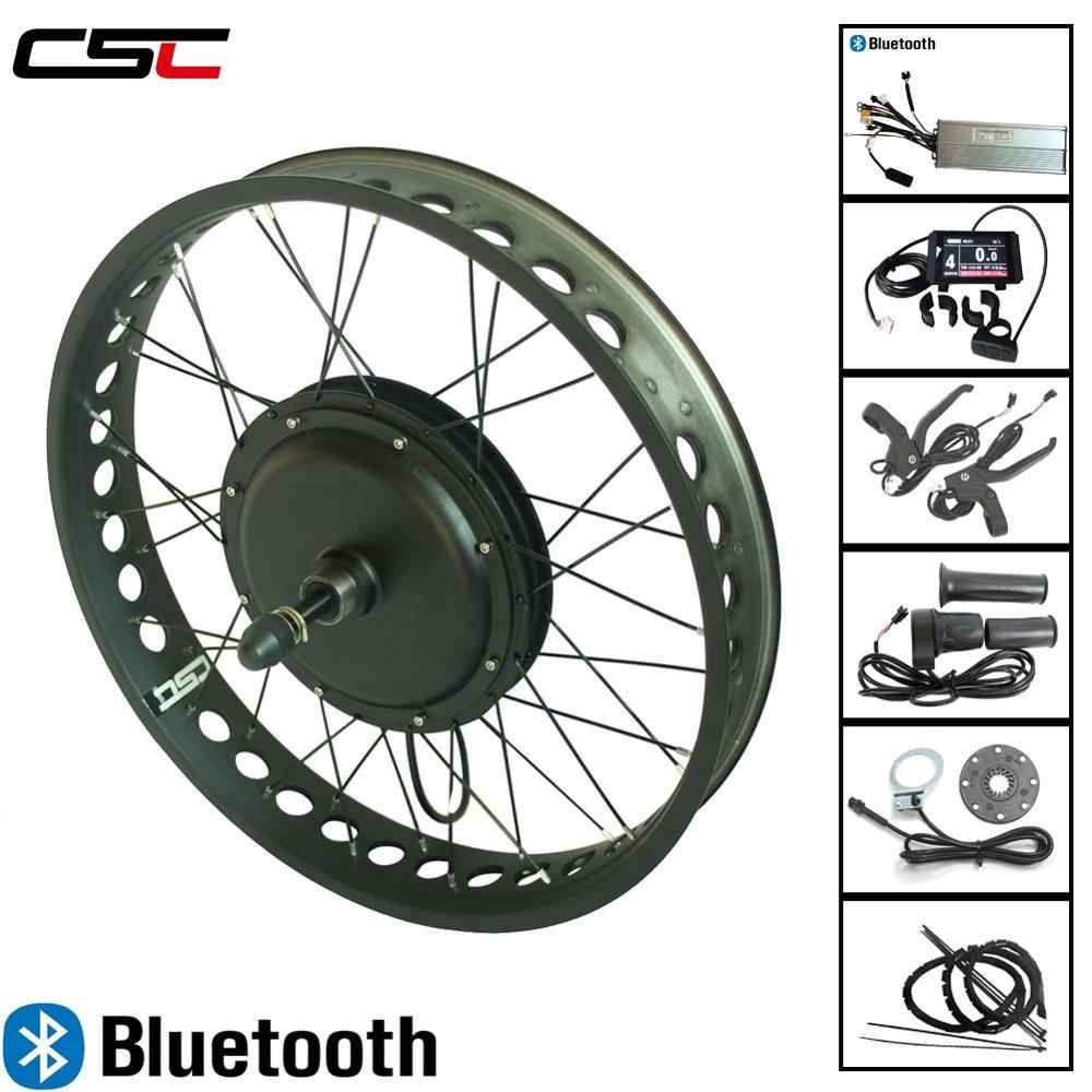 "Ebike الثلوج الدراجة تحويل عدة 4 ألوان 20 24 26 ""4.0 الإطارات 36V 350W بلوتوث الكهربائية الدهون دراجة الجبهة الخلفية المحرك عجلة"