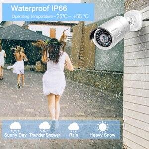 Image 5 - MISECU H.265 48 V 8CH POE CCTV Sistemi 4.0MP Bullet IP POE Güvenlik Kamera Ses Kayıt Outdoort Su Geçirmez P2P Gözetim kiti