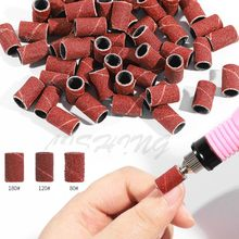 100 Pcs #80 #120 #180 Grit File Sand Nail Art Sanding Bands Brown Gel File Gel Polish Remover Manicure Pedicure Nail Tools NSB01(China)