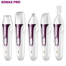5 In 1 SONAX PRO Shaver Electric Hair Remover Shaver Private Lip Hair Trimmer Shaver Depiladora Faci