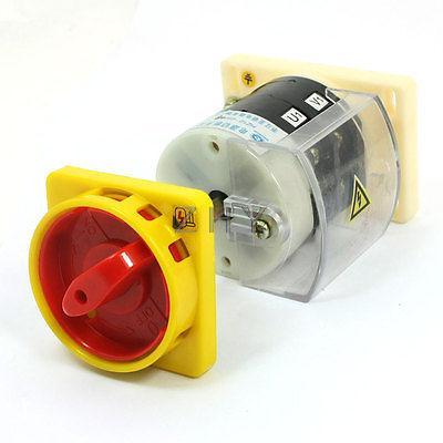380V 25A 500V 16A ON/OFF 8 Terminal Changeover Cam Switch HZ12-25/08