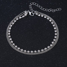 Bead Chain Anklet On The Leg Foot Bracelet Women Simple Slim Adjustable Wire Ankle Summer Beach Jewellery Wholesale(China)