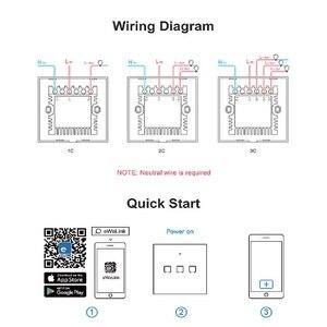 Image 5 - Сенсорный настенный выключатель SONOFF со стеклянной панелью, штепсельная вилка европейского и американского стандарта, Wi Fi, беспроводной пульт дистанционного управления, 1 клавиша, 1 канал, реле Google Smart Home