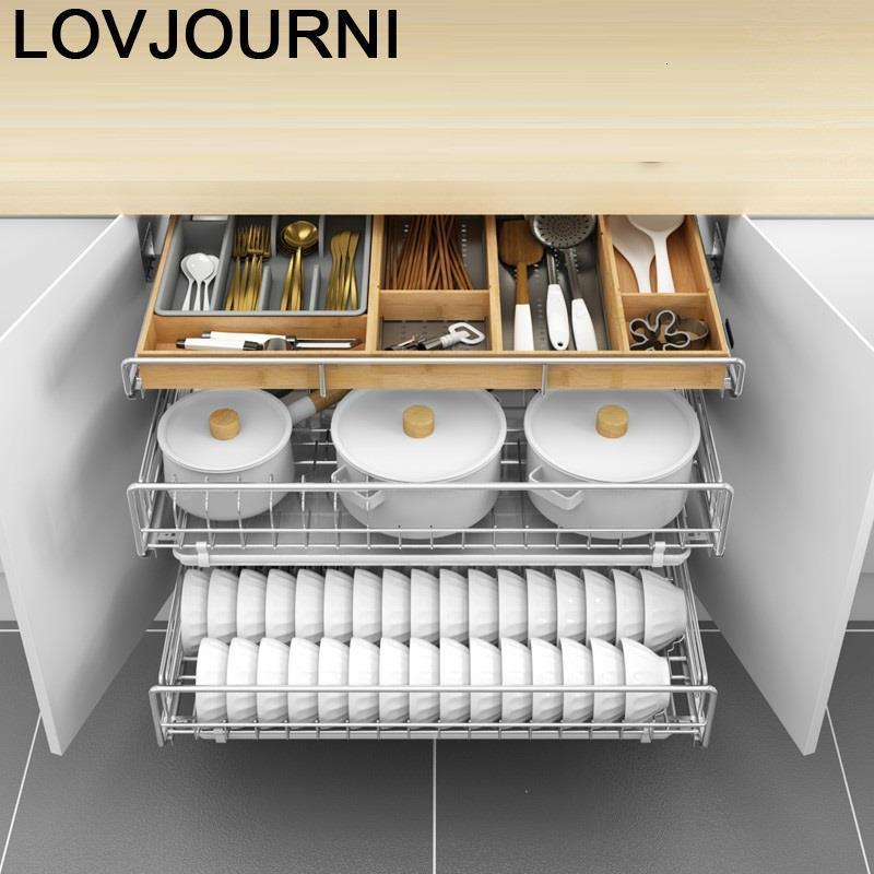Cesta armario de cocina despensa aço inoxidável, prateleira para organizar cozinha e cozinha