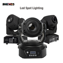 2pcs LED Spot 90W With 6 Face Prism 60W Spot Light DMX512 Stage Effect DJ Disco Party Dance Floor Sound Controller Music