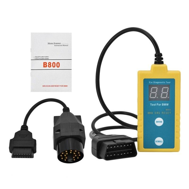 Newly B800 SRS Airbag Reset Tools OBD2 Diagnostic Tool For BMW OBD Scanners For E36 E46 E34 E38 E39 Z3 Z4 X5