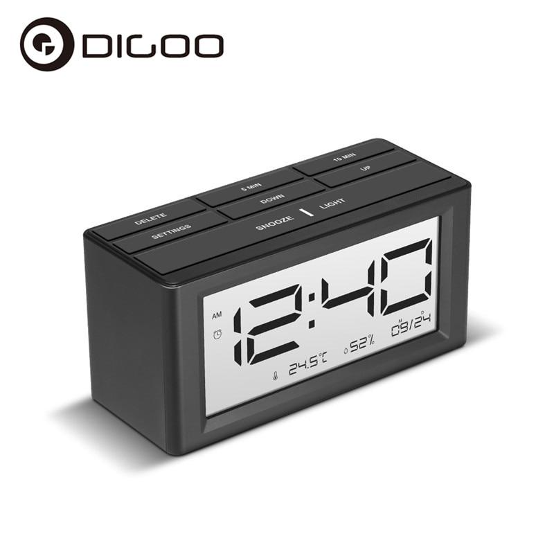 Digoo DG-C4S  Calendar LED Alarm Clocks Snooze Function Alarm Temperature Humidity LED Display Desktop Digital Table Clocks