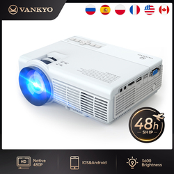 VANKYO Leisure C3MQ Mini Projector 1920*1080P Supported 170'' Portable Projector For Home With 40000 Hrs LED Lamp Life TV Stick