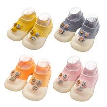 Baby Shoes First Shoes Baby Walkers Toddler First Walker Baby Girl Kids Soft Rubber Sole Baby Shoe Knit Booties Anti-slip cheap CN(Origin) All seasons Cow Muscle Unisex Fits true to size take your normal size 0-1M PATCH Canvas Elastic band Animal Prints