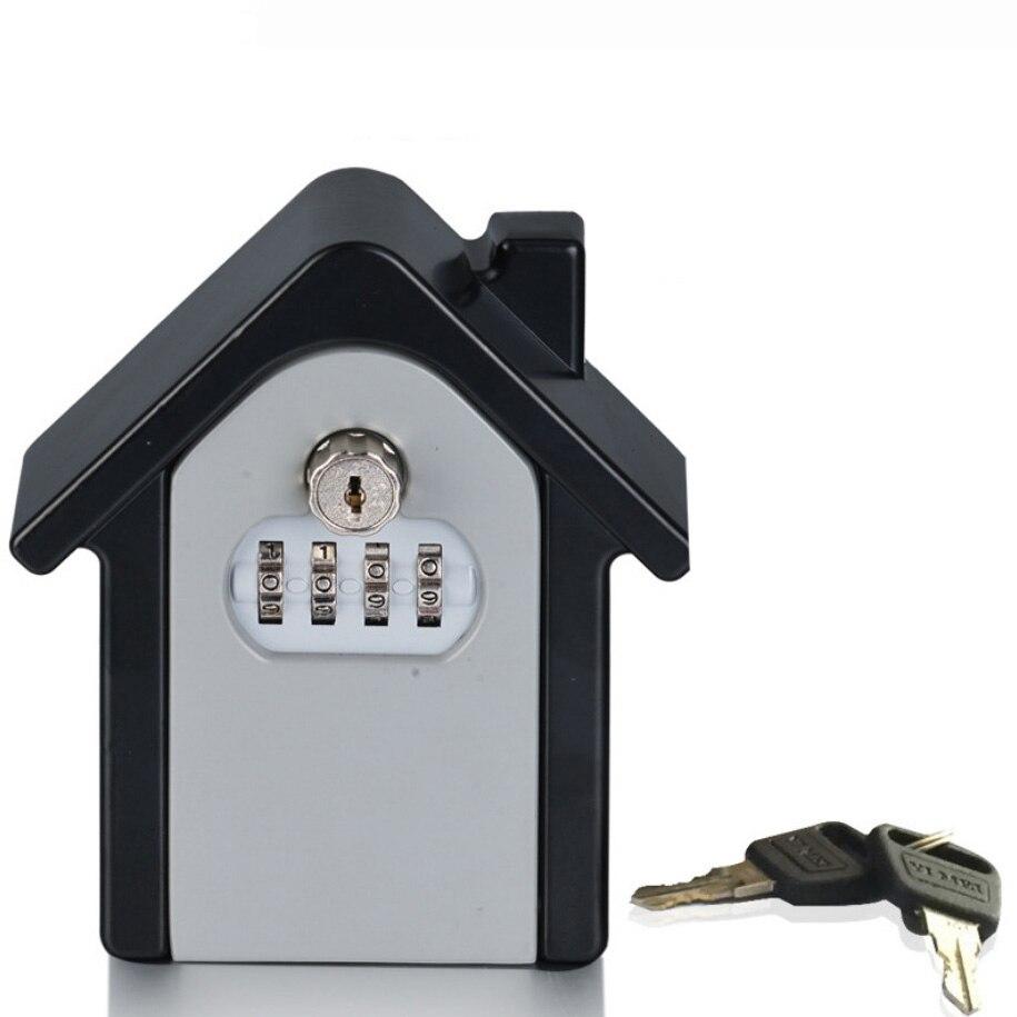 Key Safe Box Password  Key Lock Home Family Outdoor Safety Keys' Storage Box Security Wall Mounted Combination Lock Box