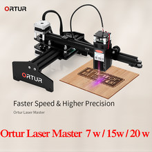 Ortur Laser Master 7W Personal Laser Engraving Machine DIY Laser Engraver Metal Cutting Machine 3D Printer Support Windows IOS(China)