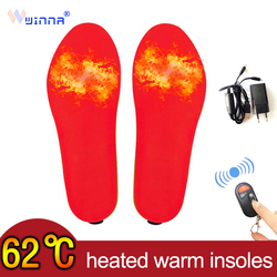 Winter BK Fabric Breathable Heated Insoles for Men Women Outdoor Ski Boots Warmer Thermal Increase Shoes Pads Size Cut To Fit