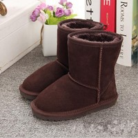 New Children Boots Australia Waterproof Girls Boys Snow Boots Baby Winter boot Fur Warm Boots for Kids Size 21 35