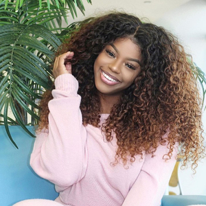 Image 2 - Mongolian Kinky Curly Wigs For Women Lace Frontal ISEE HAIR Curly Lace Closure Wig 180% Density Curly Lace Front Human Hair Wigs