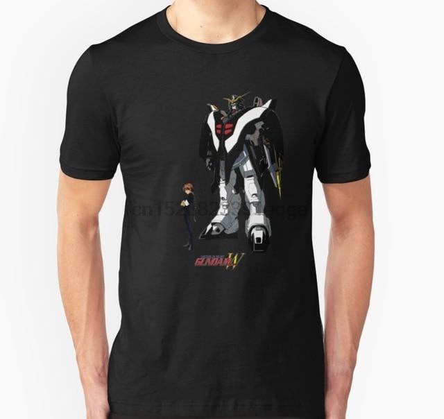 الرجال قصيرة الأكمام التي شيرت Gundam الجناح Deathscythe للجنسين تي شيرت المرأة تي شيرت