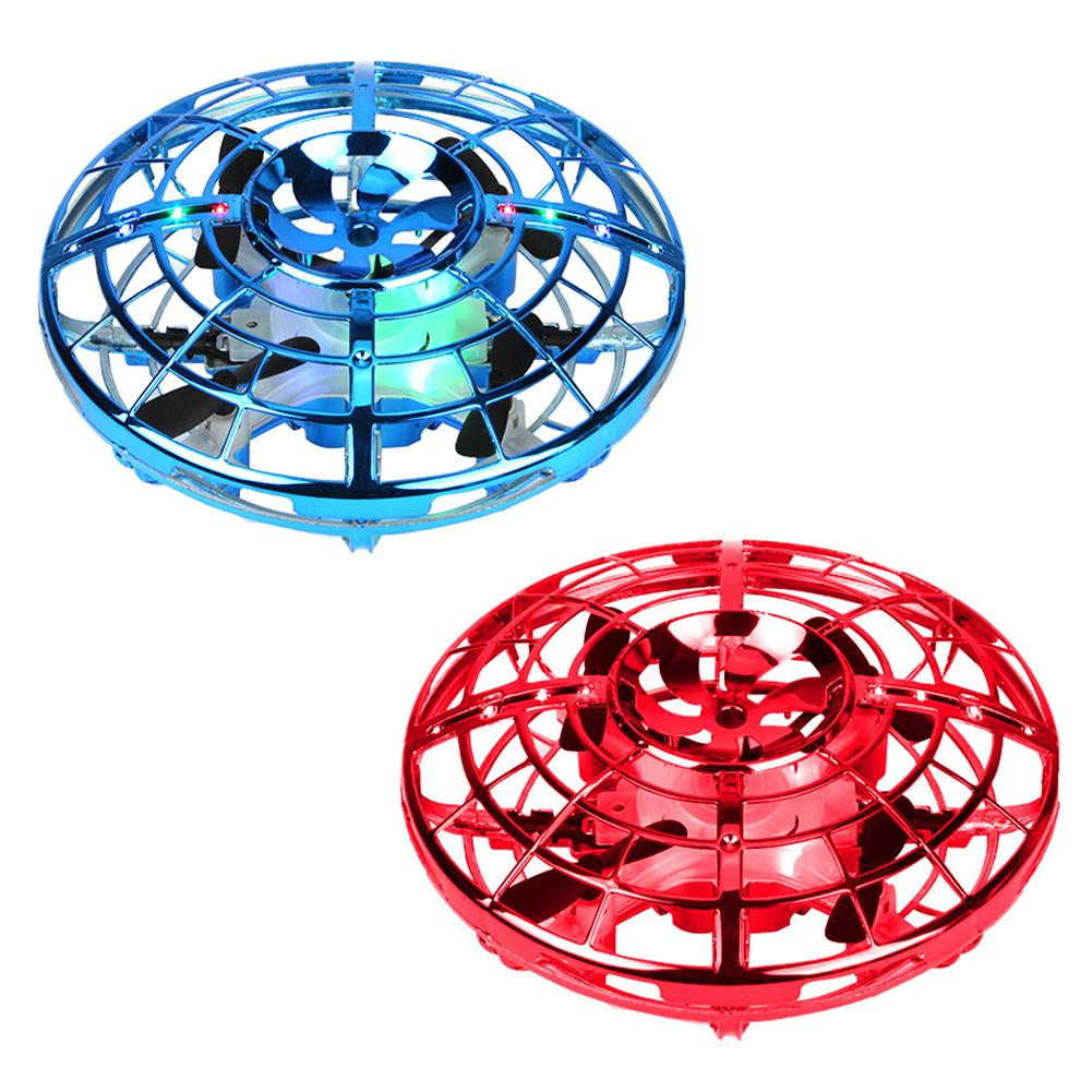 UFO Suspension Mini Induction Aircraft Interactive Flying Toys With 360 Rotating LED Lights Helicopter Anti-collision Drone Toy