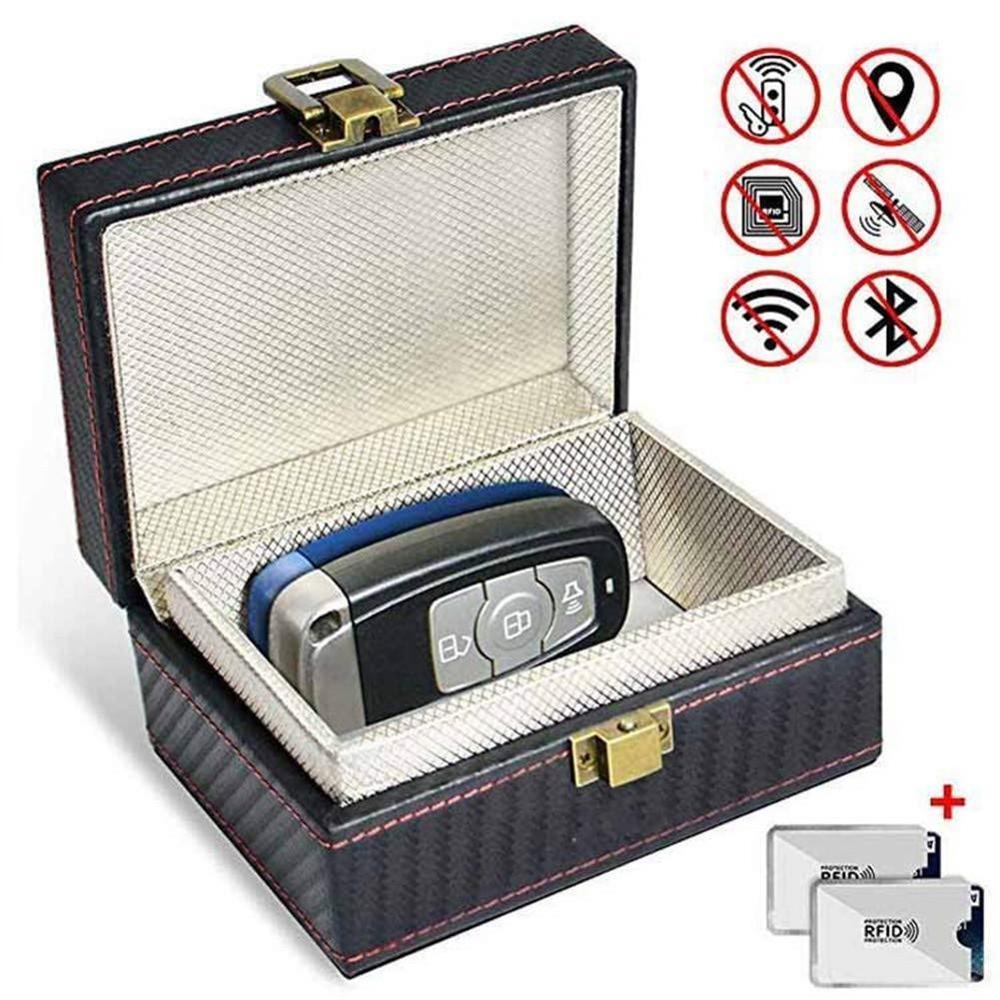 Anti Theft Faraday Box Car Keyless Signal Blocker RFID Faraday Key Fob Protector Prevent Your Key Fob For Privacy Protection