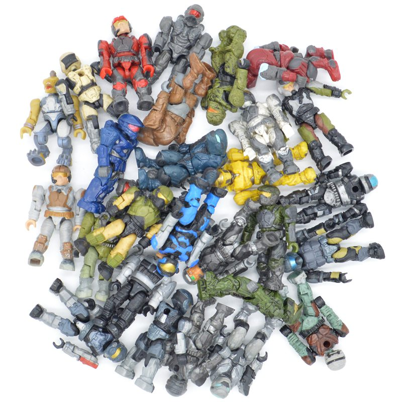 10/20/50pcs Lot Halo Wars Random Styles Warriors Monsters Building Blocks Bricks Games Kids Gifts Toys With Weapons Guns