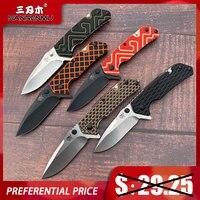 NEUE Sanrenmu 7056 Serie Tasche Folding Messer 8cr14MoV Klinge Freien Taktische Camping Jagd Überleben Angeln Werkzeug Tragbare ECD