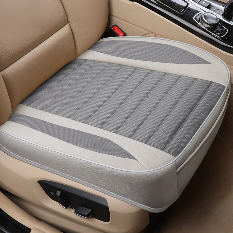 Car Seat Cover,Flax Cushion Seasons Universal Breathable For Most Four-Door Sedan&SUV Ultra-Luxury Car Seat Protection title=