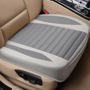 Pokrycie siedzenia samochodu len poduszki sezony uniwersalny oddychające dla większości czterodrzwiowy Sedan i SUV bardzo luksusowy fotelik samochodowy ochrony tanie i dobre opinie MHSZZAO Cztery pory roku 50cm 134cm Pokrowce i podpory 0 5kg 52cm four seasons universal Seat Covers Supports High-grade Flax