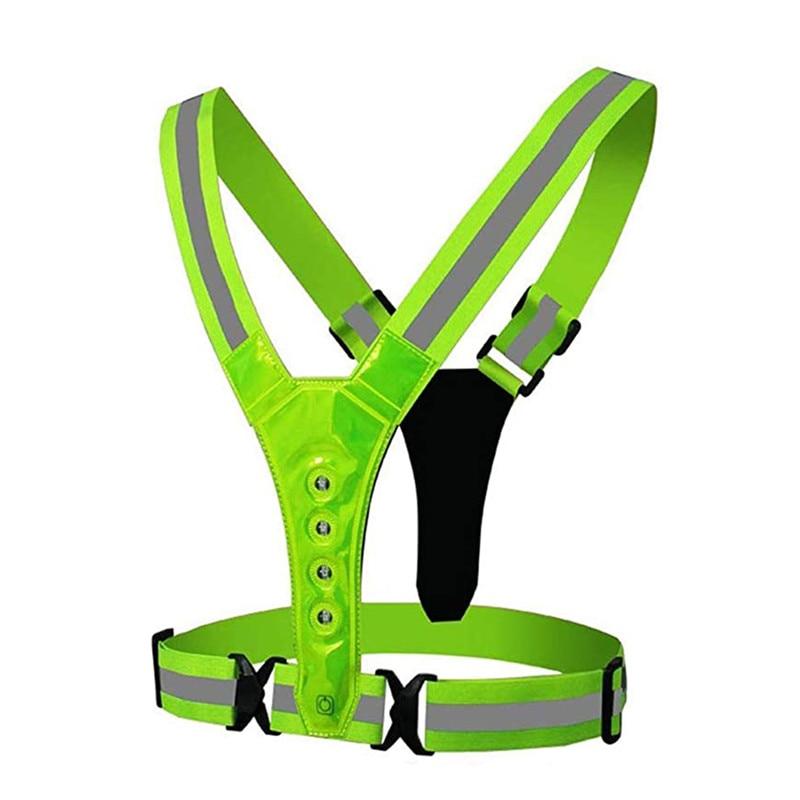 New 2021 LED Wireless Cycling Vest MTB Bike Bag Safety LED Turn Signal Light Vest Bicycle Reflective Warning Vests