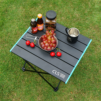 Portable Outdoor Mini Folding Table Aluminum Alloy Collapsible Desk for Barbecue Camping Mountaineering - discount item  32% OFF Outdoor Furniture
