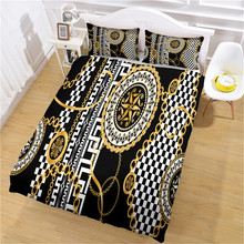 Luxury Pattern Modern Duvet Cover Set  King Queen Double Full Twin Single Size Bed Linen Set