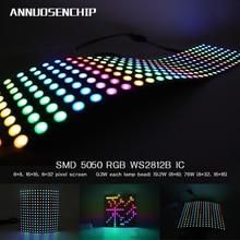 DC5V 8*8,16*16,8*32 Pixels WS2812 Digital Flexible LED Progr