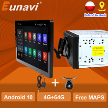 Eunavi Universele 2 Din Dsp TDA7851 Universele Android 10 Auto Multimedia Radio Speler 2 Din Gps Touch Screen Bluetooth Wifi geen Dvd