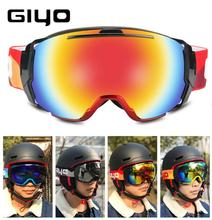 купить GIYO Women Men Ski Snowboard Goggles UV 400 Anti-fog Over Glasses Skiing Eyewear Goggles Double Lens Winter Skating Snow Goggles онлайн