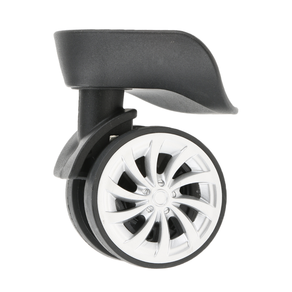 1 Pair A57 Mute Swivel Wheels Suitcase Luggage Replacement Casters For Travelling Bag