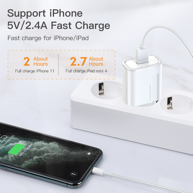 KUULAA Quick Charge 3.0 QC 18W USB Charger For Xiaomi Redmi Note 9 8 7 QC3.0 Fast Charging USB Wall Phone Charger For Samsung