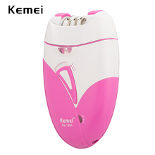 100-240V kemei rechargeable lady epilator undeararm trimmer device electric hair removal bikini hair shaver depilador remover 6 in1 lady shaver epilator electric remover kemei face cleanser for bikini body trimmer women device hair removal depilador