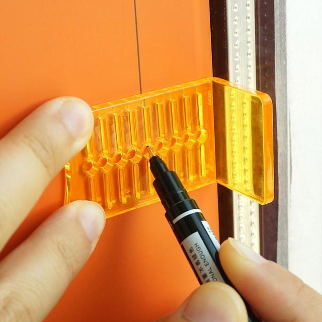 EHDIS 3pcs Car Vinyl Wrap Film Scraper Plastic Carbon Fiber Tints Calibration Tool Sticker Decal Knife Cutter Marking Aid Tools