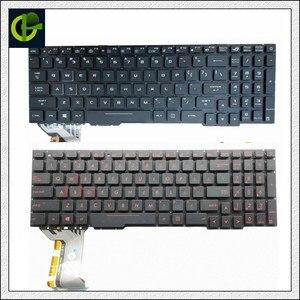English Backlit keyboard for Asus Rog FX753VD FZ53V ZX553VD FX553VD FX553V FX53 FX53V FX53VD FX53VE FX53VW ZX73 ZX73VE US laptop